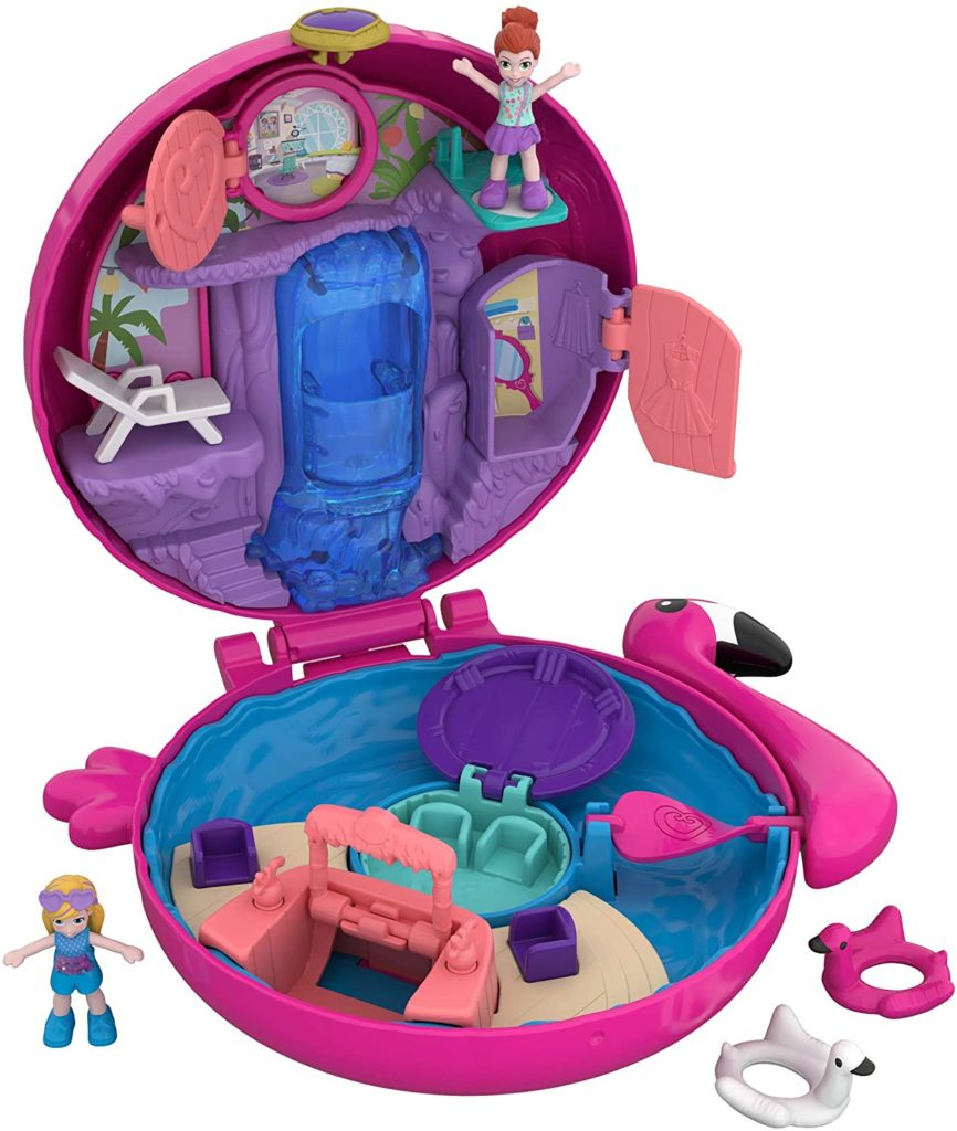 Polly Pocket Flamingo Schwimmring Schatulle